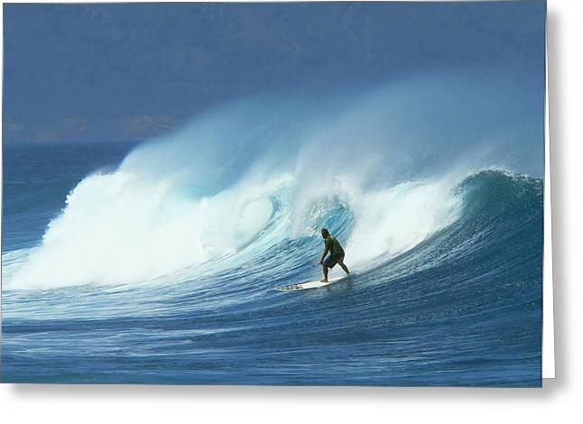 Surfer Catches A Good Ride Greeting Card