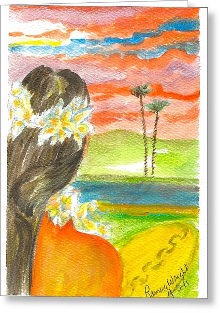 Surfer Girl Greeting Card by Ramona Wright