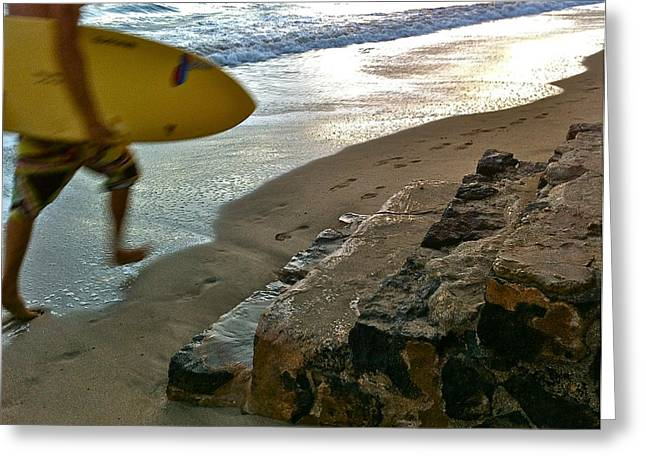 Surfer In Motion Greeting Card