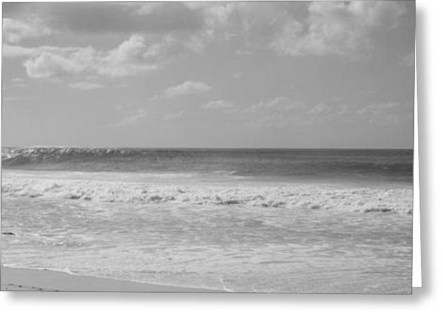 Surfer Standing On The Beach, North Greeting Card