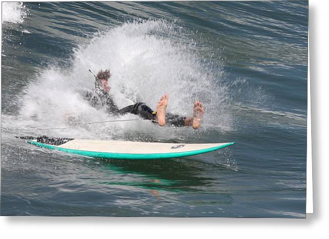 Greeting Card featuring the photograph Surfer Wipeout by Nathan Rupert