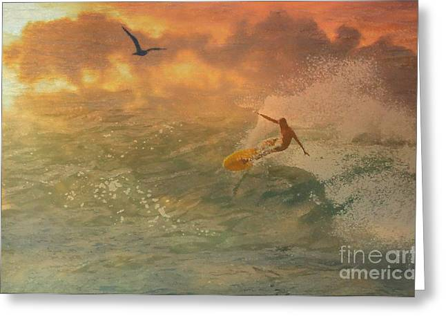 Surfers Paradise Greeting Card by Jessie Art