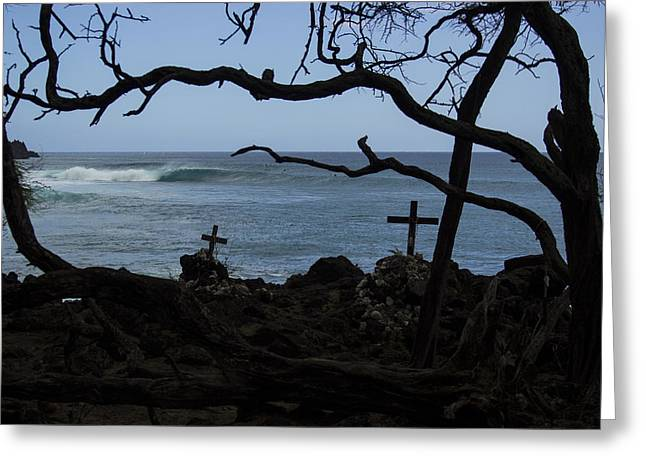 Surfers Resting Grounds Greeting Card by Brad Scott