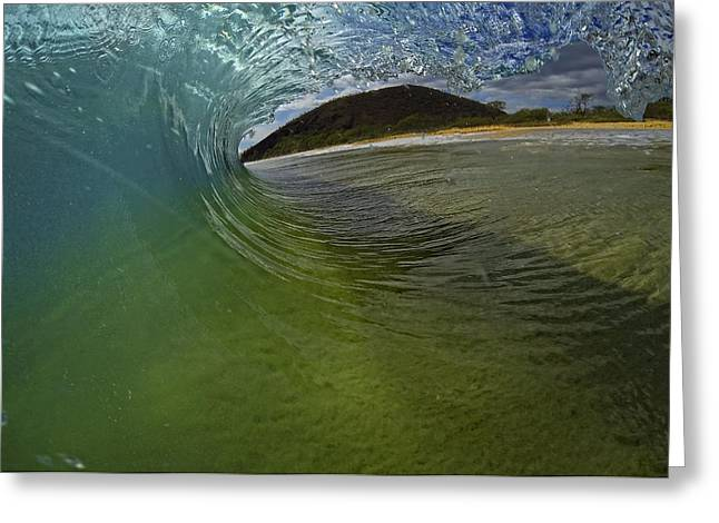 Surfers View Greeting Card by Brad Scott