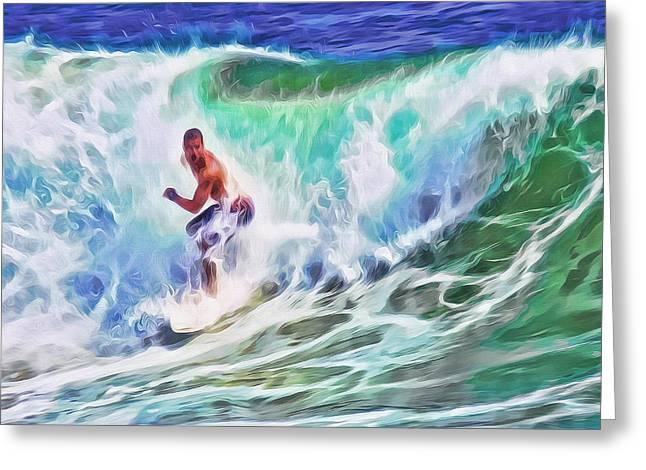 Surfin Usa Greeting Card
