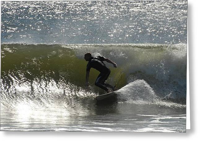 Surfing 429 Greeting Card by Joyce StJames