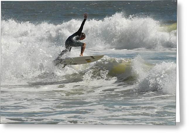 Surfing 438 Greeting Card by Joyce StJames
