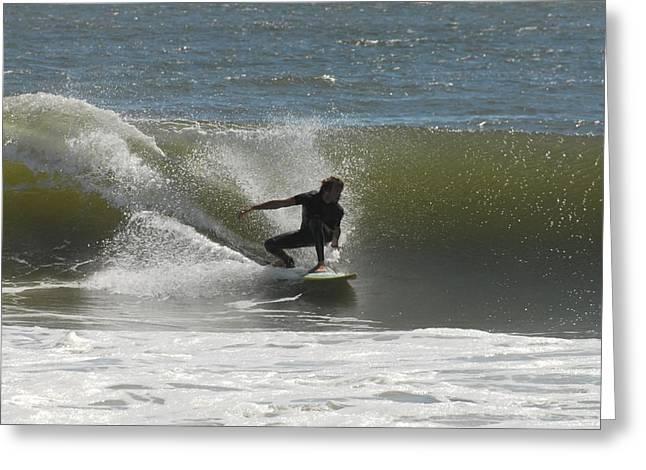 Surfing 441 Greeting Card by Joyce StJames