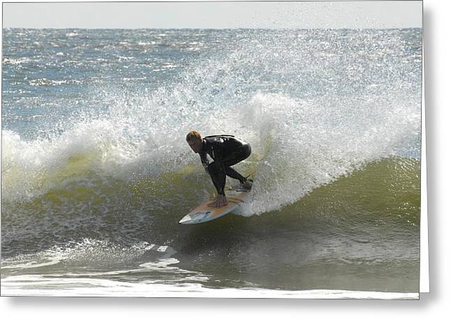 Surfing 444 Greeting Card