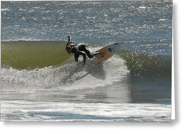 Surfing 452 Greeting Card