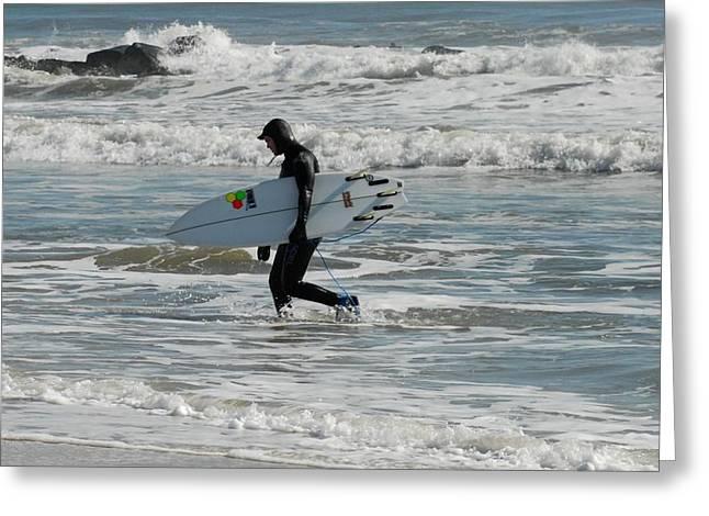 Surfing 462 Greeting Card by Joyce StJames