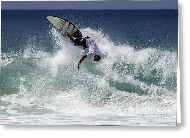 Surfing Brazil 2 Greeting Card by Bob Christopher