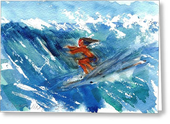 Surfing I Greeting Card by Ramona Wright