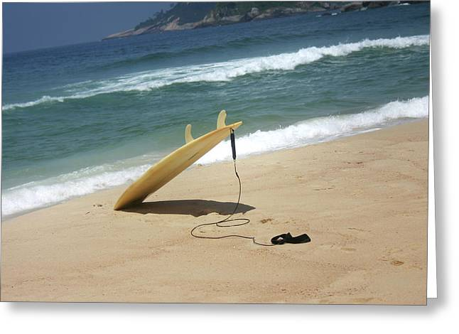 Surfing In Rio Greeting Card by Frederico Borges