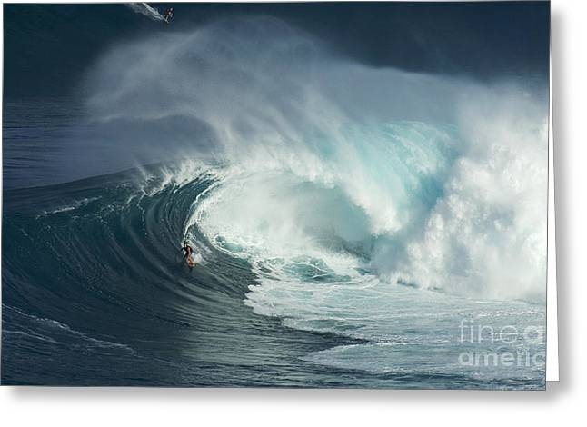 Surfing Jaws Fast And Furious Greeting Card