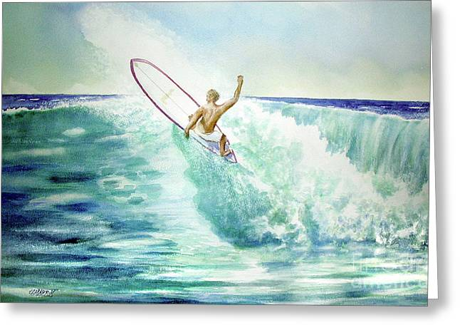Surfing California Greeting Card