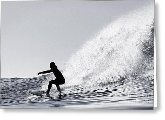 Greeting Card featuring the photograph Surfing The Avalanche by Paul Topp