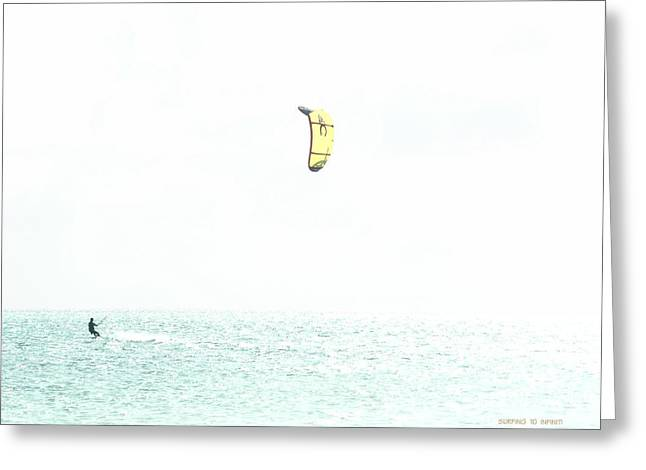 Surfing To Infinity Greeting Card