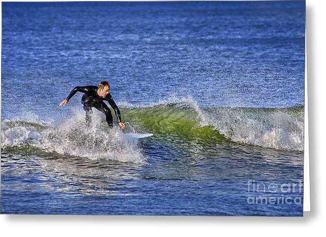 Surfing Usa Greeting Card by Evelina Kremsdorf