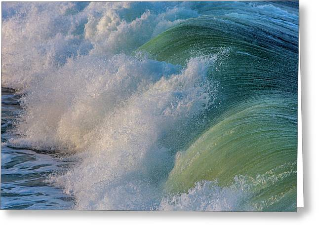 Surfs Up At Pismo Beach, California, Usa Greeting Card