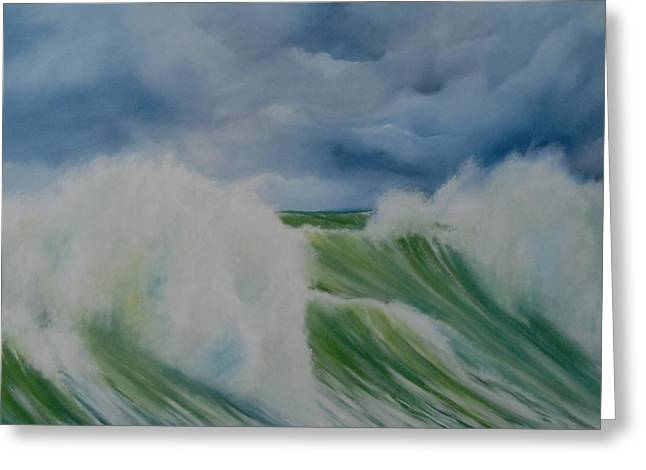 Surfs Up Greeting Card by Neil Kinsey Fagan
