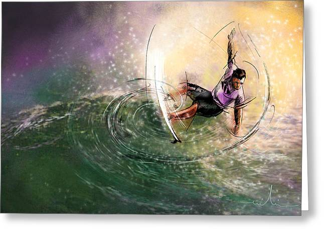 Surfscape 01 Greeting Card by Miki De Goodaboom