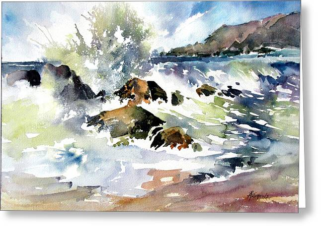Surfside Crescendo Greeting Card by Rae Andrews