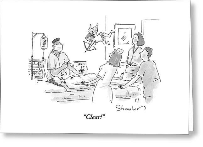 Surgeon And Nurses In An Operating Room Greeting Card