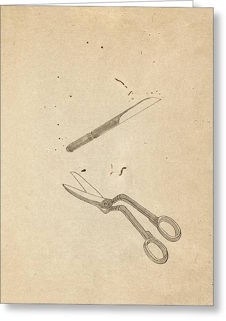 Surgical Tools Greeting Card by National Library Of Medicine