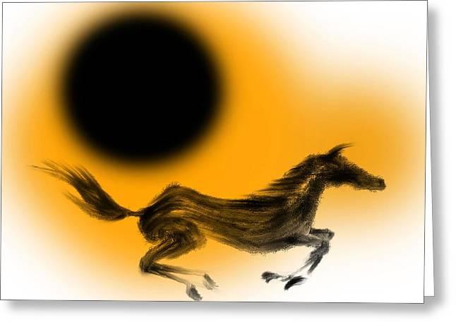 Surging Horse Greeting Card