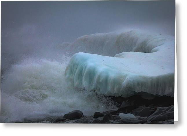 Surging Sea Greeting Card by Mary Amerman