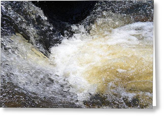 Greeting Card featuring the photograph Surging Waters by Tara Potts