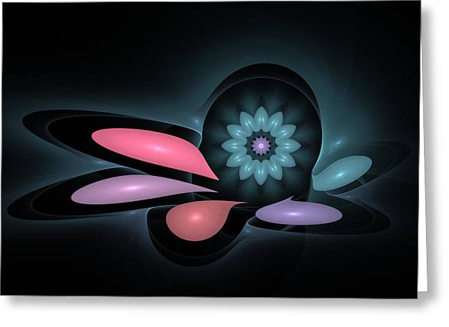 Greeting Card featuring the digital art Surprise Flower by Hanza Turgul