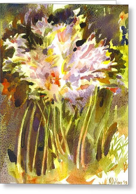 Surprise Lilies II A Portrait Greeting Card