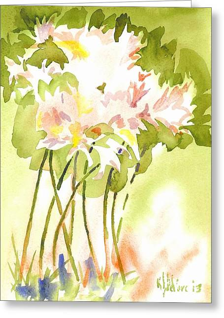 Surprise Lilies IIi A Portrait Greeting Card