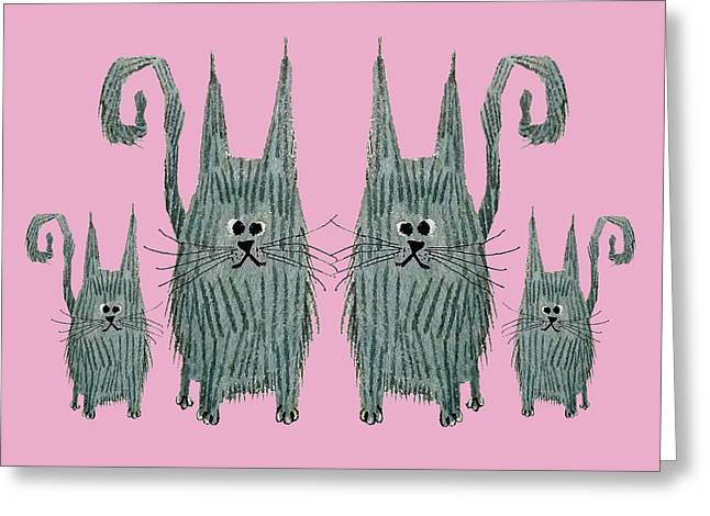 Surprised Cats II Greeting Card