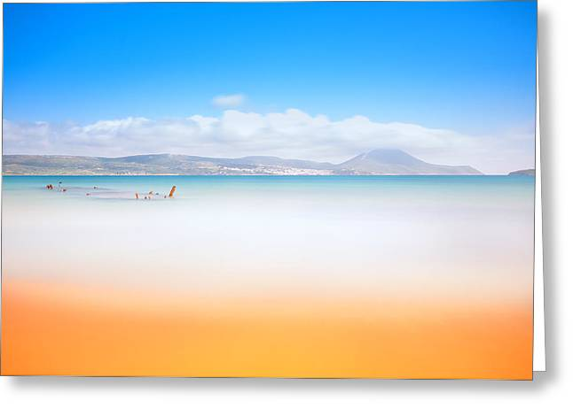 Golden Beach Greeting Card by Stavros Argyropoulos