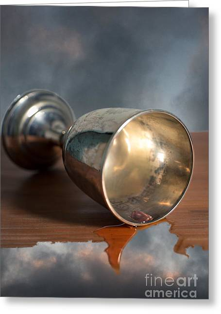 Surreal Chalice Greeting Card by Wolf Kettler
