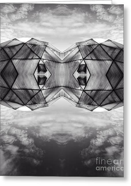 Surreal Landscape - Dwelling Greeting Card by Edward Fielding