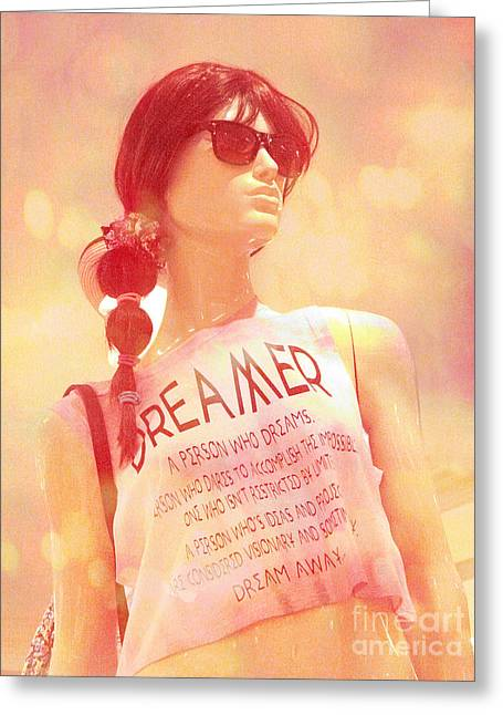 Surreal Mannequin Art - Female Mannequin Fashion - Dreamer Fashion Art Photo Greeting Card by Kathy Fornal