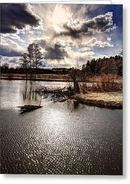Surreal Sky At Sunfish Pond Greeting Card