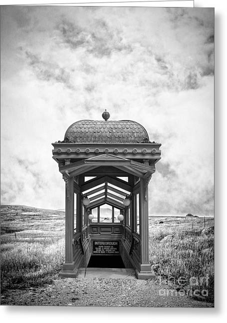 Subway Surreal Greeting Card by Edward Fielding