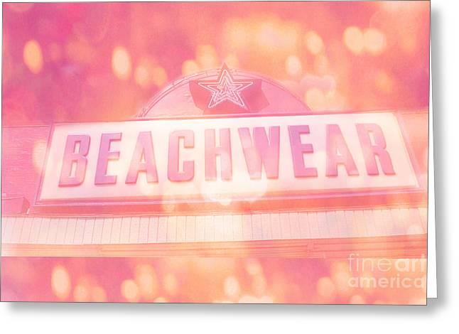 Surreal Summer Beachwear Sign - Mrytle Beach South Carolina Greeting Card