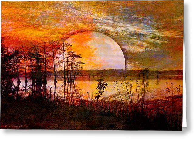 Surrealistic Sunrise Greeting Card by J Larry Walker
