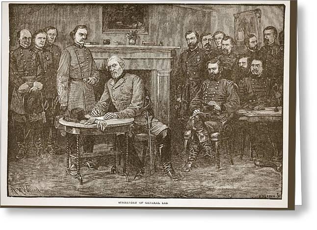 Surrender Of General Lee Greeting Card