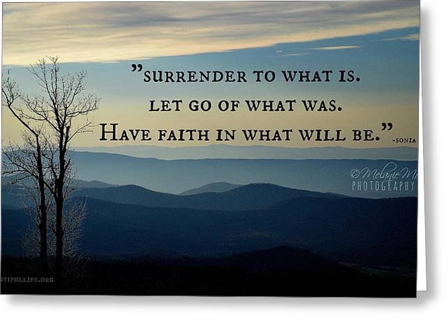 Surrender To What Is... Greeting Card