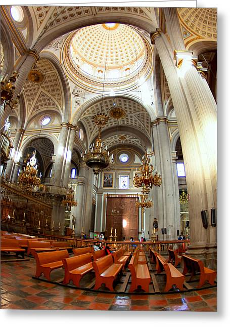 Surrounded By Baroque In Puebla Greeting Card