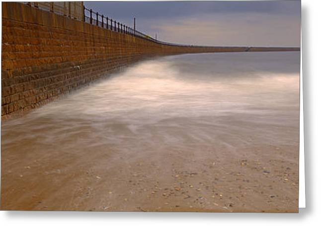 Surrounding Wall Along The Sea, Roker Greeting Card by Panoramic Images