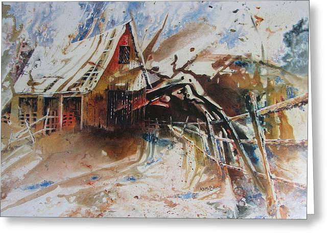 Surviving A Storm Greeting Card by Ken McBride