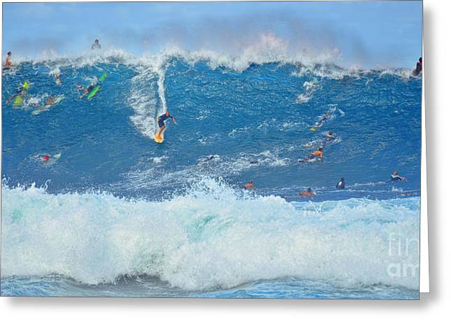 Surviving The Banzai Pipeline Greeting Card